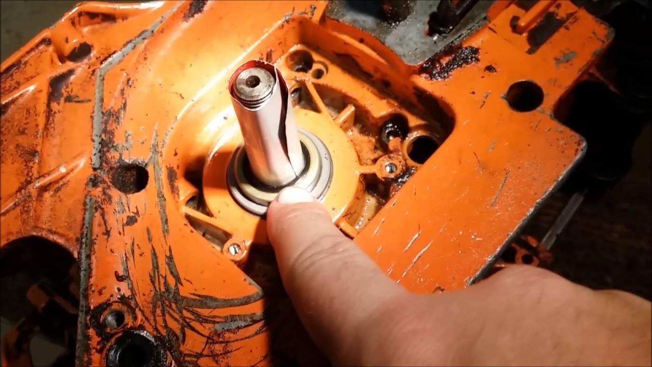 Husqvarna 394xp crank seals trick install