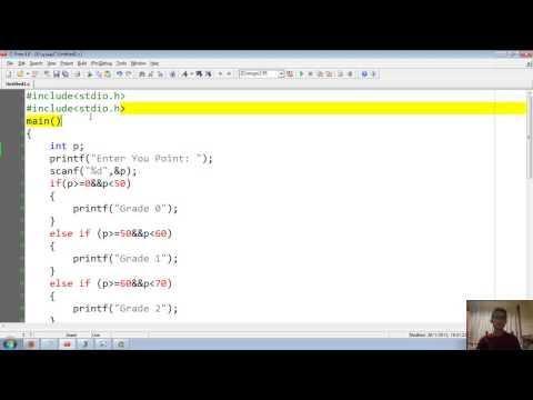 การเขียนโปรแกรมตัดเกรดด้วยภาษาซี