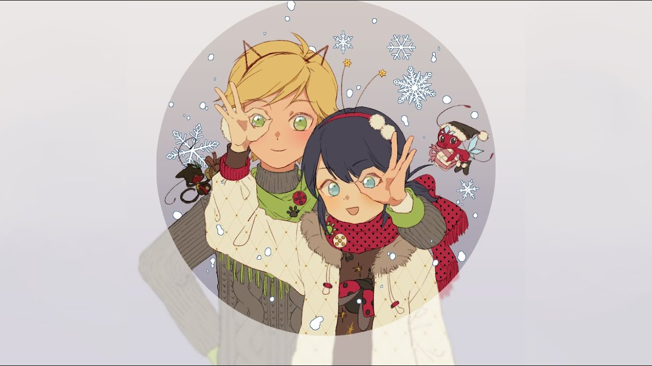 Christmas Dorks (Adrienette, Steady Dating, Christmas, Snowball Fight) A Miraculous Ladybug Fanfic
