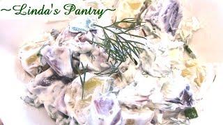 ~garden Herbed Potato Salad With Linda's Pantry~
