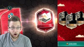 Massive 13 Million Coin Russia World Cup Pack Opening! 64 Small Player Packs! FIFA Mobile 18