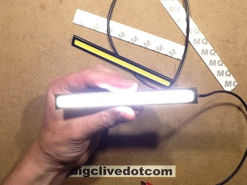 A look at some LED COB light strips for cars / automobiles.