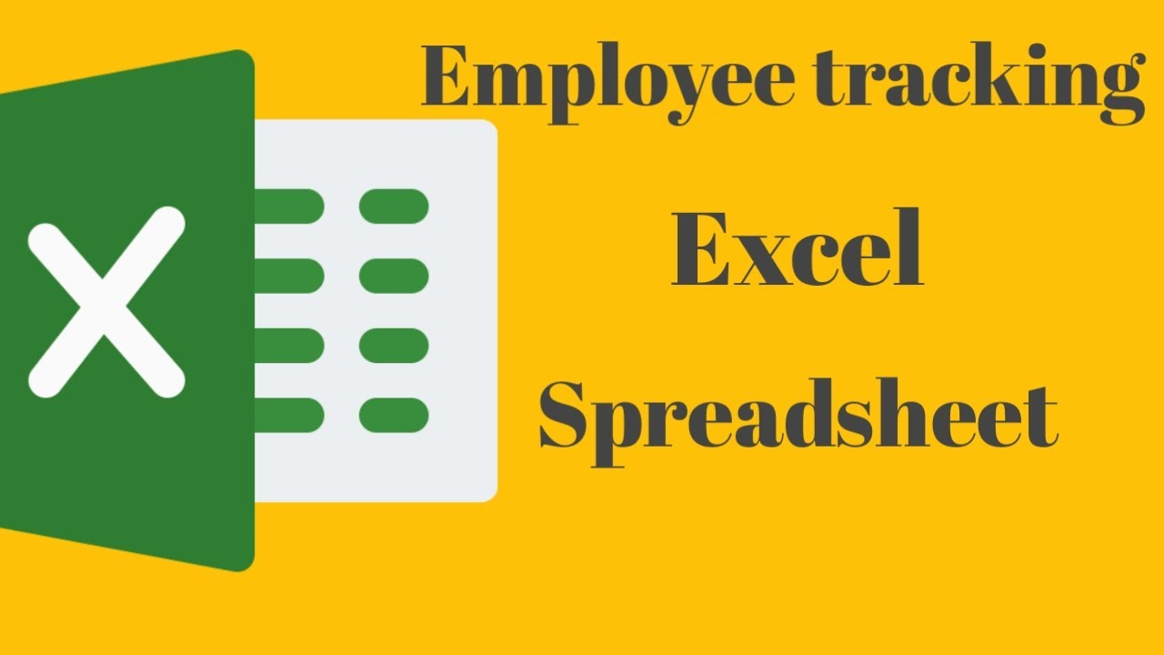 Employee tracking excel spreadsheet || employee tracking system || if and function in excel 2016