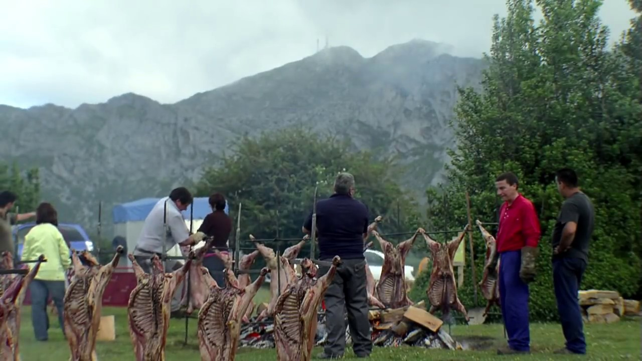 Asturias. Slow-roasting Lamb on a Mountain top - YouTube for Whole Lamb Grill  173lyp
