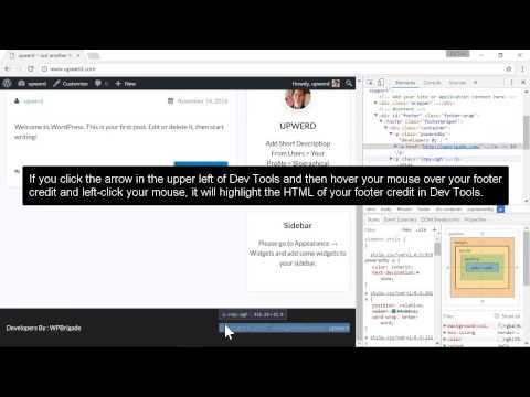 Easy Remove Footer Credit Plugin - upwerd com