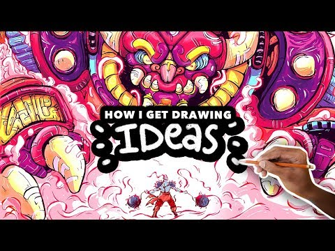 HOW TO GET DRAWING IDEAS , My Illustration Process , YouTube