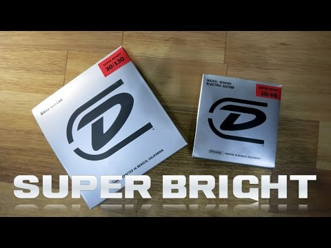 Dunlop SUPER BRIGHT Strings - Bass and Guitar String Review