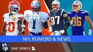 NFL Rumors: Antonio Brown Latest, Rob Gronkowski's Potential Return & Hunter Henry Injury Update
