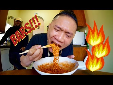 3.5 MIL SUB FREESTYLE WHILE DOING SPICY RAMEN CHALLENGE