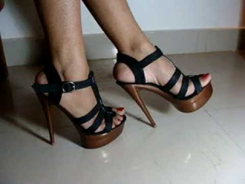 6 Inch High Heel Sandals - YouTube