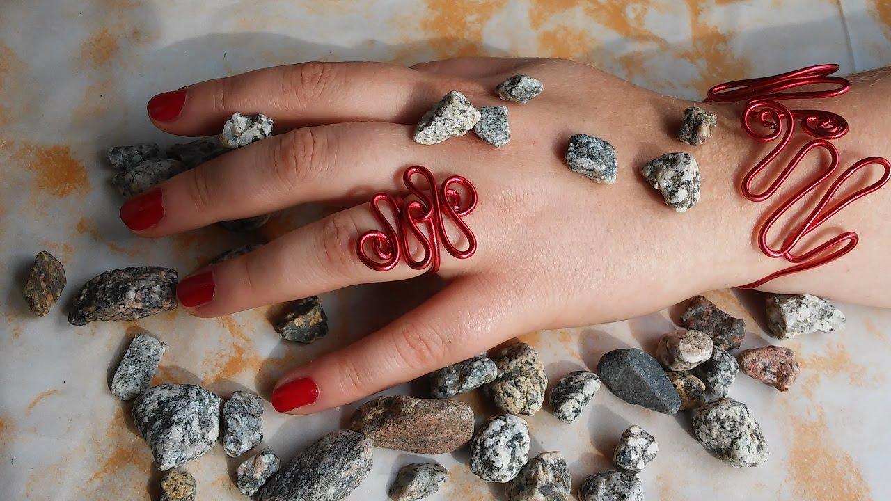 DIY Armband und Ring aus Draht - YouTube