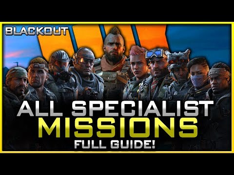 How to Unlock ALL of the Specialist Characters in Blackout! (Full Mission Guide!)