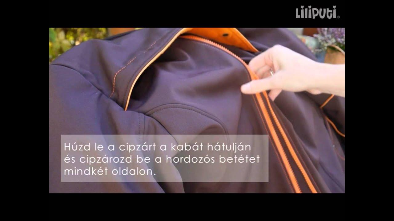 c3d0934a01 Liliputi® Hordozós Mama Kabát - ismertető - YouTube