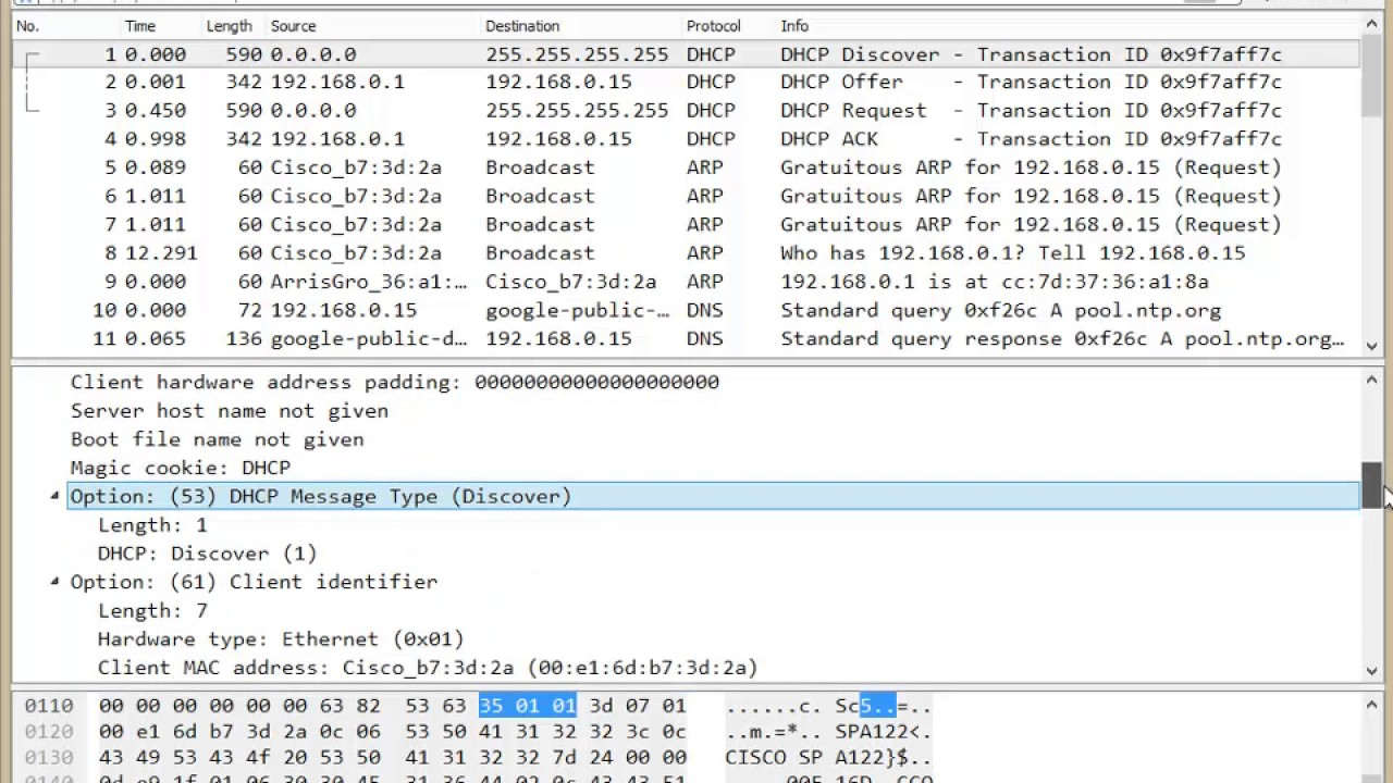 How To Determine DHCP Option 60 Value Using Wireshark