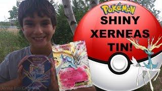 Pokemon Shiny Xerneas EX Kalos Tin! Pokemon Cards - Jenna Em Channel