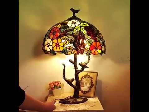 Stained Glass Table Lamp Handmade Shade Tiffany Lamp