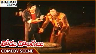 Thodu Dongalu Movie || Krishna & Chiranjeevi Superb Comedy Scene || Chiranjeevi || Shalimarcinema