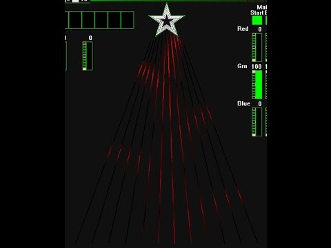 Musical Christmas light show to I am Santa Claus for 12 CCR smart pixel tree