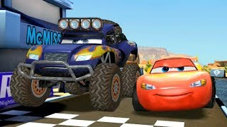 Lightning McQueen VS Monster Bulldozer & Francesco Disney Pixar Cars Racing Gameplay