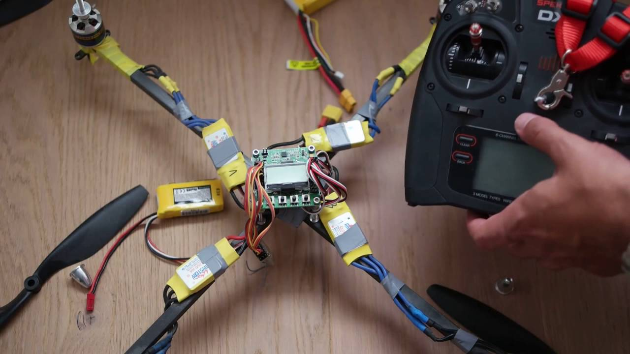 hight resolution of kk 2 flight controller setup
