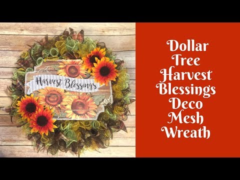 Wonderful Wreaths: Dollar Tree Fall Wreath