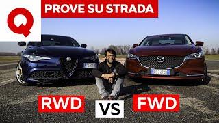 Alfa Giulia vs Mazda 6: meglio trazione posteriore o anteriore?