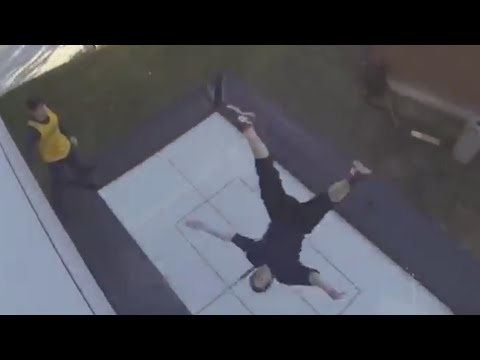 Next level trampoline wall tricks!   People are Awesome