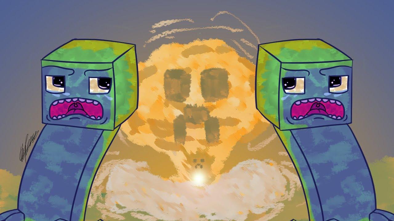 Картинки майнкрафт зомби крипер