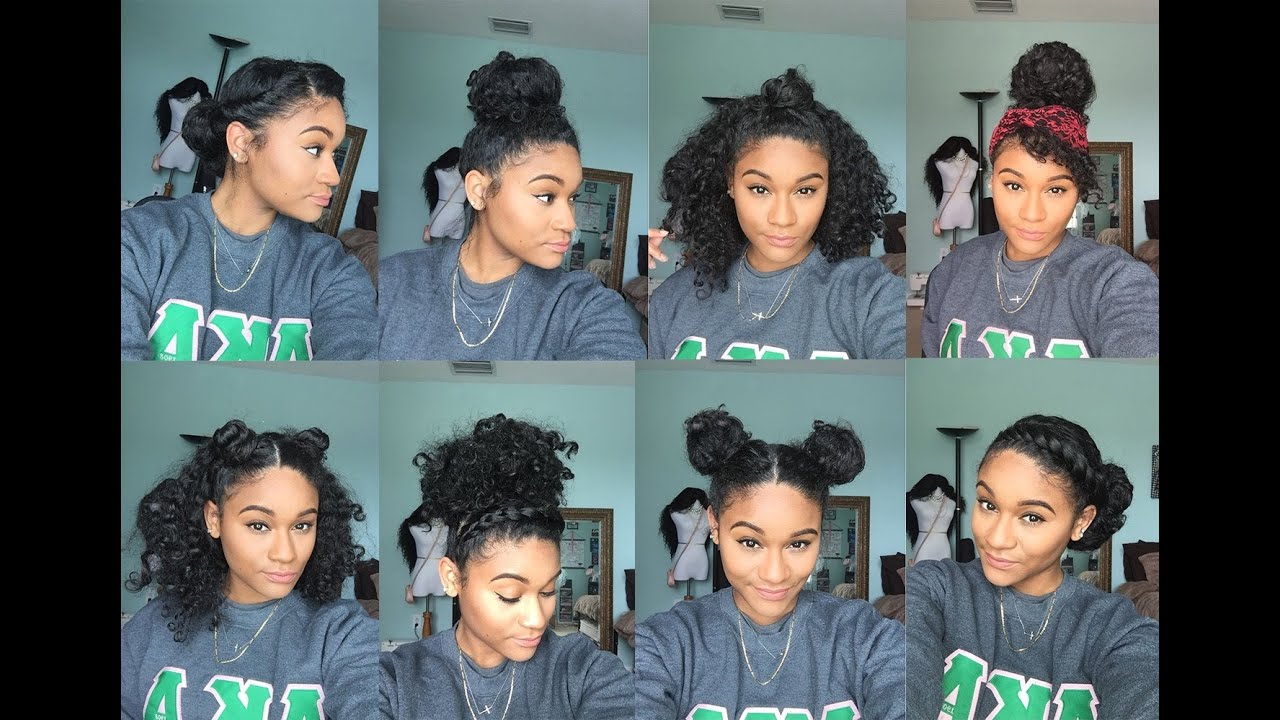 8 Bun Styles For Curly Hair - YouTube
