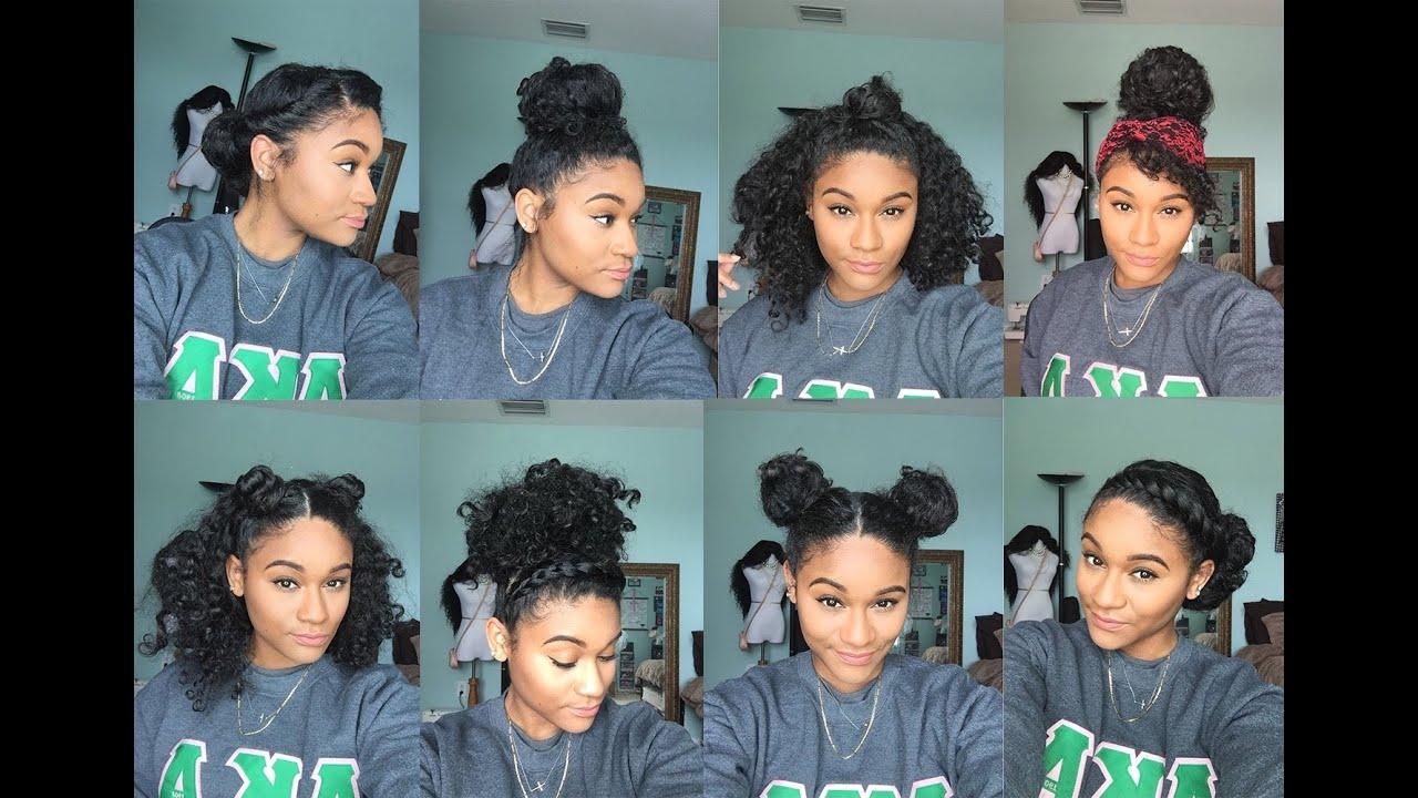 Natural Hair 8 Bun Styles For Curly Hair Youtube