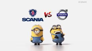 Scania vs Volvo Minions Style part 2 (funny)