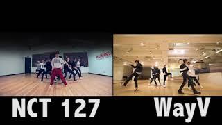 NCT 127 vs WayV Regular Dance Choreography Comparison