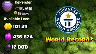 World Record : Highest Dark Loot In Clash Of Clans!