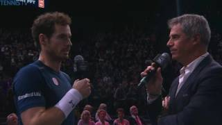 Murray becomes No.1! on-court interview | Paris Open 2016