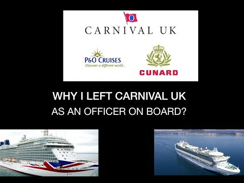 WHY I LEFT CARNIVAL UK CRUISES (P&O CRUISES)