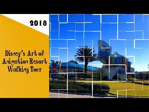 Disney's Art of Animation Resort Walking Tour 2018