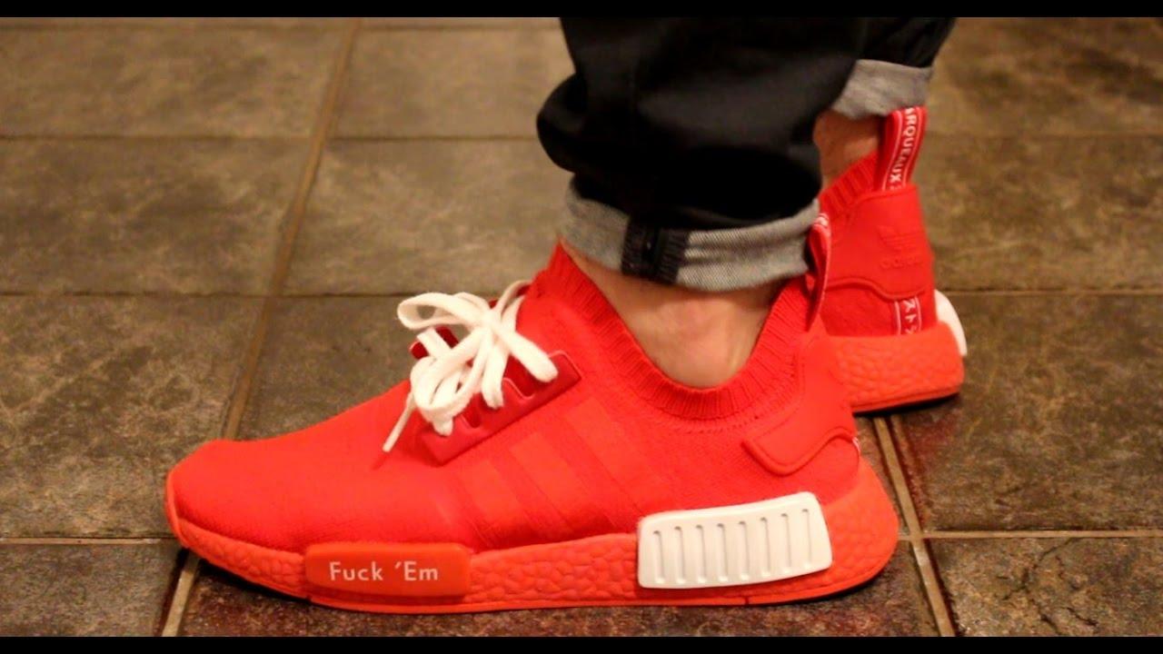 Adidas NMD R1PK F*ck 'Em ON FEET