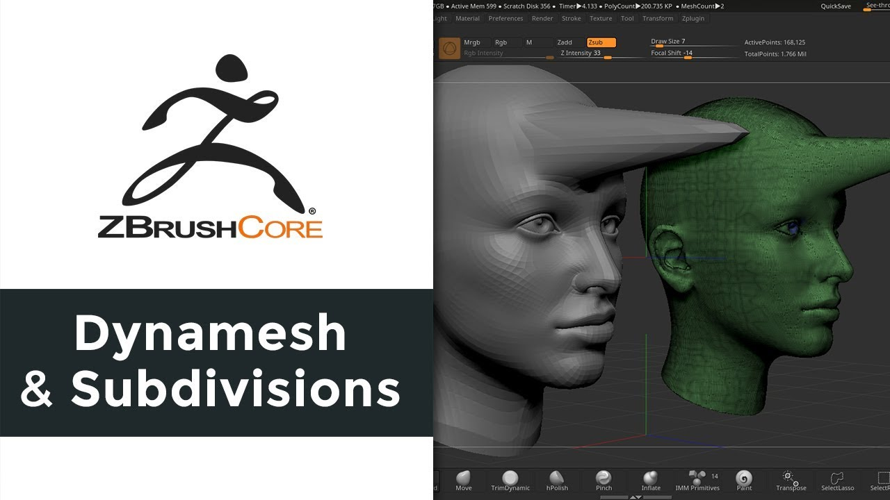 ZBrushCore: Using Dynamesh and Subdivisions #AskZbrush