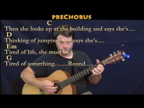 Round Here (Counting Crows) Guitar Lesson Chord Chart with Chords/Lyrics