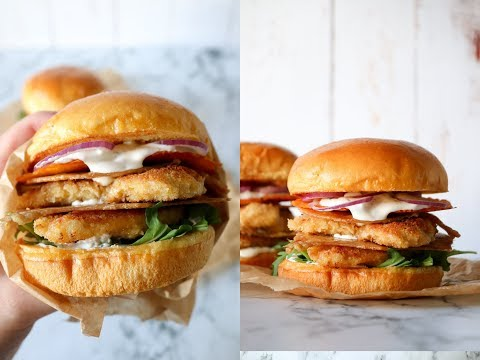 The Ultimate Crispy Chicken Burger With Crispy Chicken Skin And Cheddar Chips - By One Kitchen