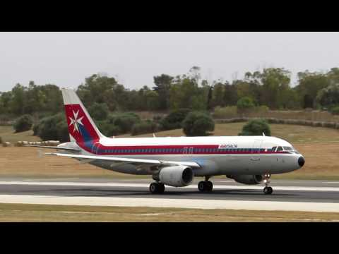 Air Malta Retro Jet 9H-AEI final departure from Malta