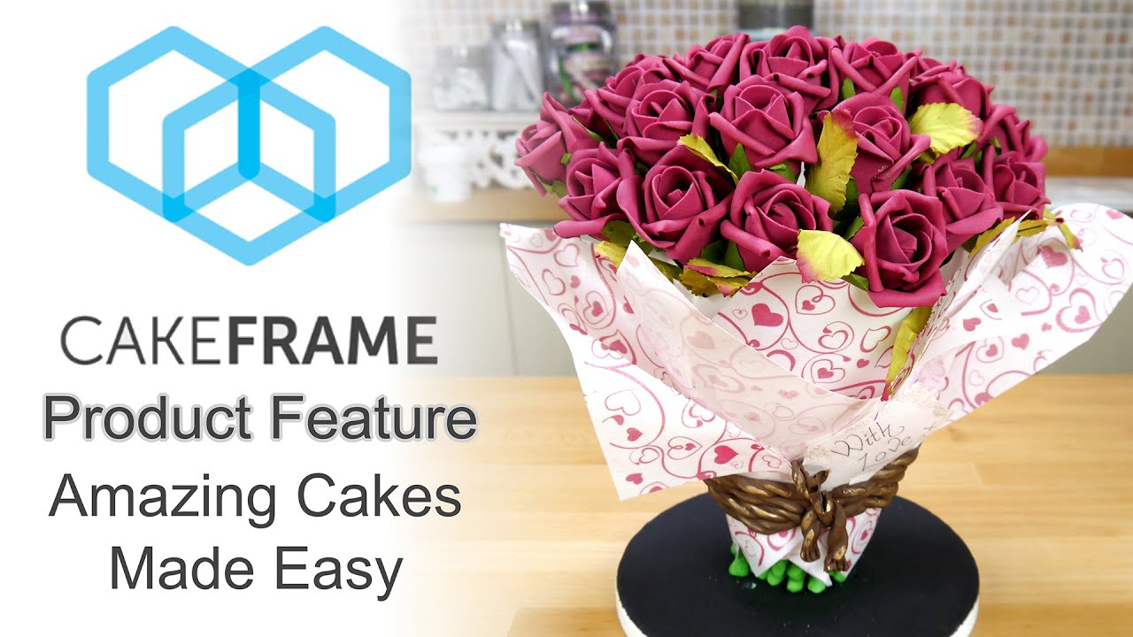 Using the cake frame to construct a 3d bouquet of flowers cake try ad free for 3 months dhlflorist Images