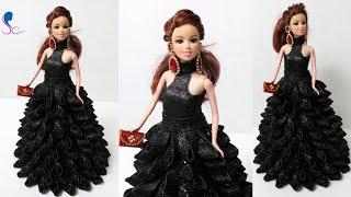 DIY Doll Decoration using Foam Glitter Sheet/Making Doll Dress u0026 Mini Purse/Doll Decor ideas