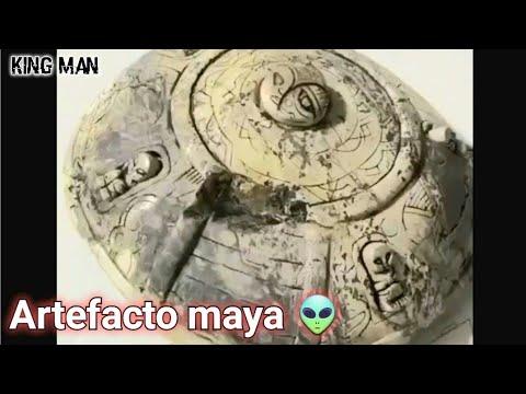 Artefacto Maya con forma de ovni con pequeña tripulación encontrada en excavacion de México