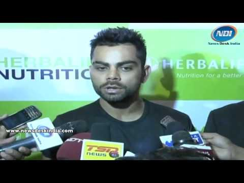 Virat Kohli talking about Herbalife Products