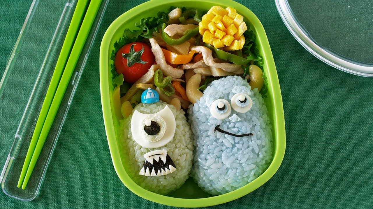 monsters university bento the school of scaring ochikeron create eat. Black Bedroom Furniture Sets. Home Design Ideas