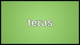 Teras Meaning