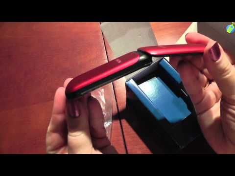 unboxing pl SAMSUNG E1190 Ruby Red rozpakowanie po polsku