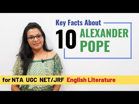 Most Crucial & Significant Works by Alexander Pope (for UGC NET)
