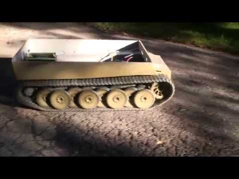 Vintage RC 1/6th scale armortek early production Tiger I Video#6 (track, and test drive)